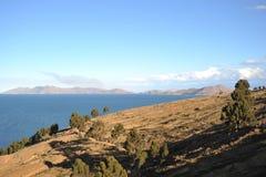 Mountain lake Titicaca Stock Photos