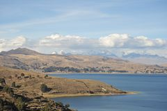 Mountain lake Titicaca Royalty Free Stock Images