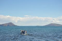 Mountain lake Titicaca Royalty Free Stock Photography