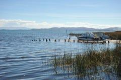 Mountain lake Titicaca Royalty Free Stock Photos