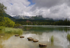 Mountain Lake. Mountain lake Štrbské in the, in the High Tatras royalty free stock photography