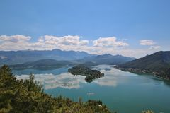 mountain lake in Turkey Stock Image