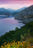 Mountain lake in  twilight. Leon,  Spain Royalty Free Stock Photography