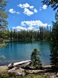 Mountain Lake. Twin Lake, Caribou Wilderness area of Northern California Stock Images