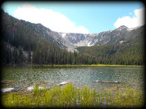 Mountain Lake. Upper Basin Lake Scenery in Montana Stock Photography