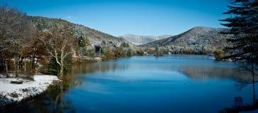 Mountain Lake Vermont stock photo