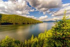 Mountain Lake Vidra summer evening view Stock Photography