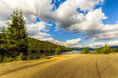 Mountain Lake Vidra summer evening view Stock Photography