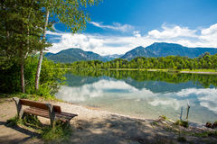 Mountain lake view Stock Images
