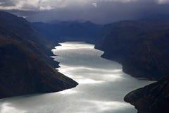 Mountain lake view. Jotunheimen National Park. Norway
