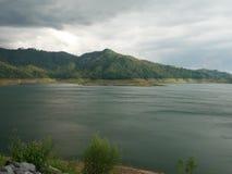 Mountain lake view royalty free stock photo