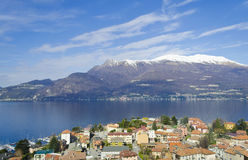 Mountain and Lake view from Varenna - Italy Royalty Free Stock Images