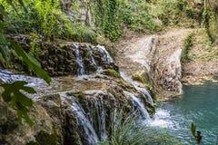 Mountain Lake and Waterfall Stock Image