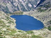 Mountain lake. The Lake of Mountain Spirits, Sayan, Krasnoyarsk Krai, Siberia, Russia Stock Images