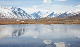 Mountain Lake winter day Stock Photography