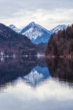 Mountain lake in winter Royalty Free Stock Photo