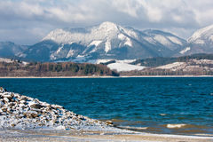 Mountain lake in winter Tatra Mountains Stock Photography