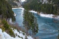 Mountain lake on wintertime Stock Photography