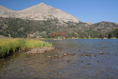 Mountain lake in Wyoming Stock Images