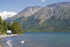 Mountain lake in the Yukon Stock Photography
