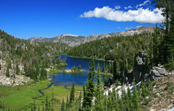 Mountain Lakes. Crystal clear blue lakes in the Wallowa Mountains of eastern Oregon royalty free stock photography
