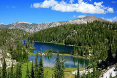 Mountain Lakes. Crystal clear blue lakes in the Wallowa Mountains of eastern Oregon Stock Image