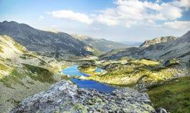 Mountain Lakes Beautiful Landscape in Carpathian Mountains Stock Photos