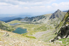 Mountain Lakes. Beautiful view of three of the famous Seven Rila Lakes in Rila mountains, Bulgaria Stock Photo