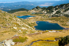 Mountain lakes. Cool mountain lake in the reserve Stock Images