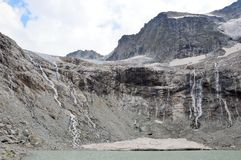 The mountain lakes and glaciers Stock Photos