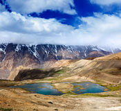 Mountain lakes in Himalayas Royalty Free Stock Photography