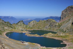 Mountain lakes landscape Royalty Free Stock Photography