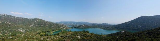 Mountain lakes panorama Royalty Free Stock Photos
