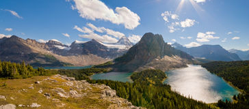 Mountain Lakes Panorama Stock Photos