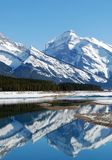 Mountain and lakes in Rockies. Mountains and lakes in the Canadian Rockies royalty free stock image