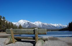 Mountain and lakes in Rockies royalty free stock photo
