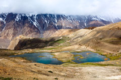 Mountain lakes in Spiti Valley in Himalayas Stock Photo