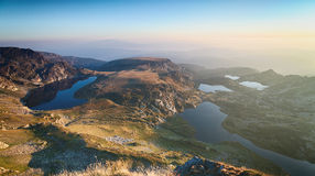 Mountain Lakes by Sunrise - Rila, Bulgaria Royalty Free Stock Image