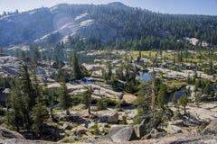 Mountain lakes in a valley Stock Photos
