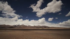 Mountain and Land with some of clouds and sky. With high contrast royalty free stock image