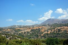 Mountain landscale, Crete. Royalty Free Stock Images