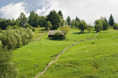 Mountain landscape. Moeciu de sus. romania stock images