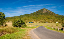 Mountain landscape. Cars on the road in a mountain landscape Royalty Free Stock Images