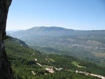 Mountain landscape. Beautiful mountain landscape closed to Budva sity Montenegro Royalty Free Stock Images