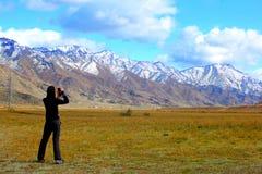 Mountain landscape. On altai in siberia Stock Photo