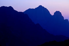 Mountain landscape. (color toned image Royalty Free Stock Photos