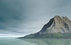 Mountain Landscape. A rugged mountain landscape on the coast royalty free stock photo