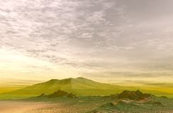 Mountain Landscape. A green mountain landscape under a beautiful sky stock images