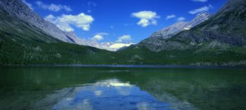 Mountain Landscape. Landscape of a lake and mountains in British Columbia, Canada Stock Photo
