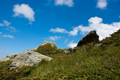 Mountain landscape. Sunnt day in Fagaras Mountains, Romania Royalty Free Stock Images